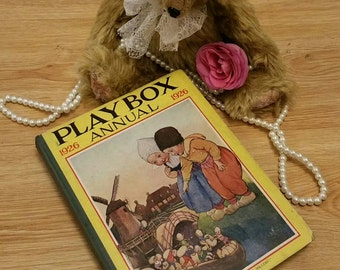 Vintage 1926 playbox childrens annual story book with illustrations.