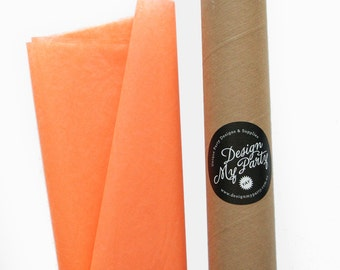 Apricot Tissue Paper (20 or 40 Sheets) 500mmx760mm
