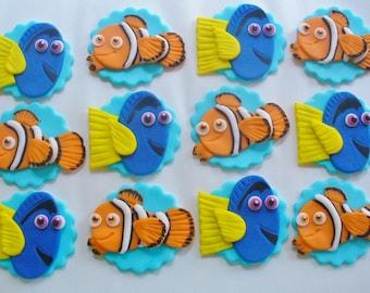 Items Similar To Fondant Nemo Or Dory Fish Cake Cupcake