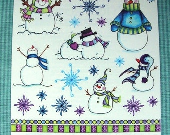 "SUMMER SALE Penny Black Stickeroos ""Every Christmas"" But Great for the WINTER Fun! #10-185"