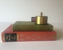 Vintage Brass Postage Stamp Holder, Retro Desk Stamp Roll Holder, Vintage Office, Desk Accessories, Mid Century Office
