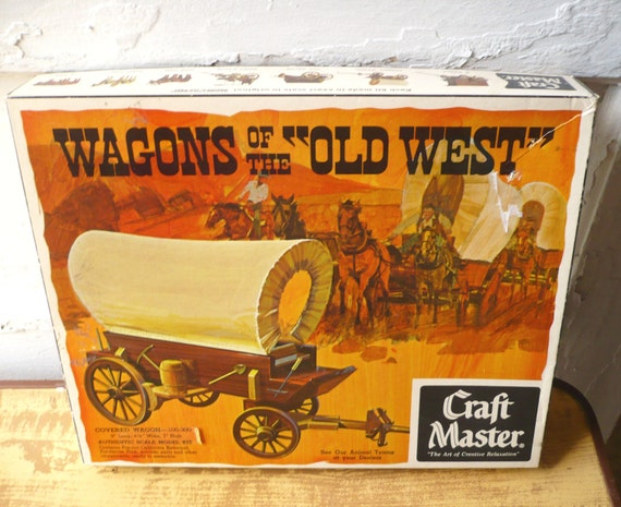 Vintage Craft Master Kit Wagons Of The Old West Covered Wagon