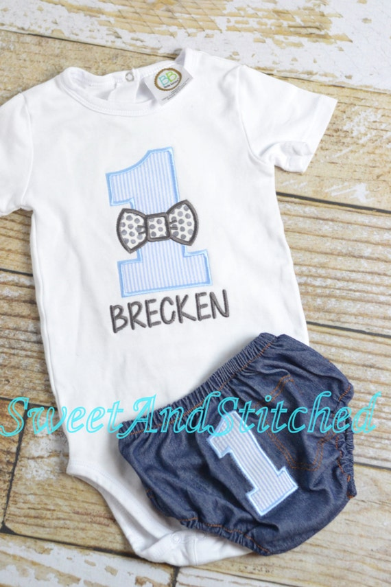 Boys bow tie 1st Birthday outfit - baby boy first birthday bowtie shirt - Bow tie Birthday Shirt - 1st, 2nd, 3rd, 4th birthday bowtie shirt