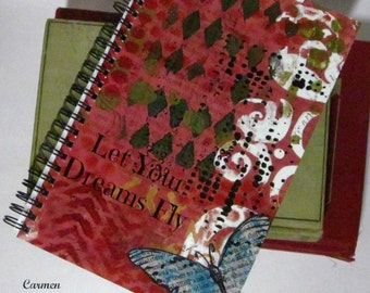 Let Your Dreams Fly - Spiral Bound Journal