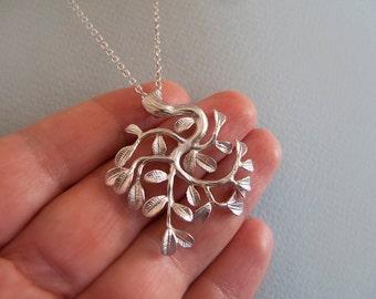 Silver Tree Branch Necklace - Bridesmad Gift