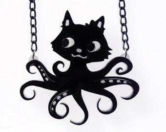 Black octopuss necklace