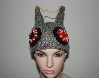 New! Robot 'Inspired' Crochet Beanie Hat. All sizes available. Great Gift For Anyone!