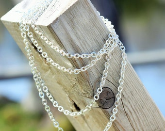 BEAUTIFUL metal chains are now available. ADJUSTABLE from 36 inches to any shorter length. Silver in colour.
