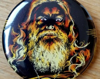 Hippie Cult Leader Father Pinback Button