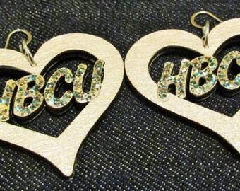 HBCU Love Earrings - White