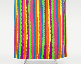 rideau de douche rayures rideau de douche color rideau de douche unique rayures multi color rideaux de douche frache - Rideau De Douche Color