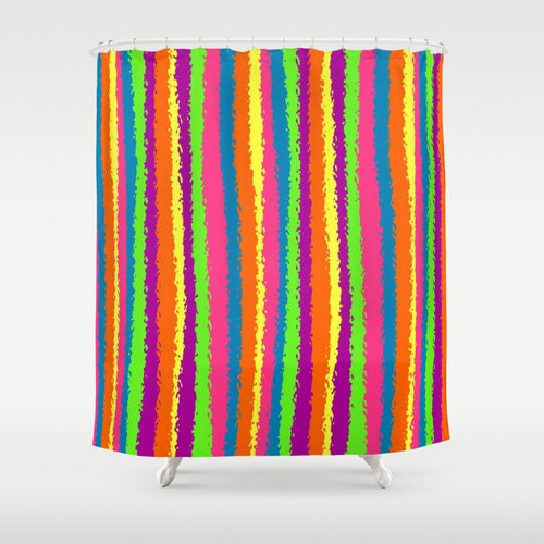Stripe shower curtain colorful shower curtain multi color Colorful shower curtains
