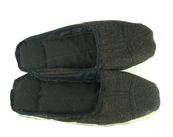 Tweed & Cotton Scrap Slippers Portuguese Chinelos de Trapos size EU 39-40