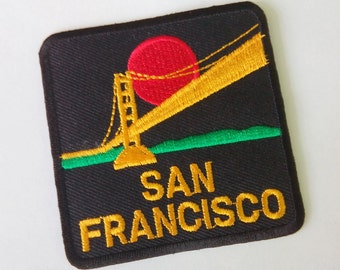 "Embroidered San Francisco Iron on Patch Badge (2 1/2"" x 2 1/2"")"