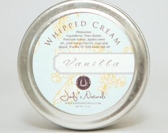 Vanilla Whipped Cream Moisturizer, Vegan Whipped Shea Butter Moisturizing Cream