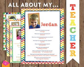 Teacher Gift - All About My Teacher Book - Teacher Appreciation Week - Preschool - Kindergarten - Pre K - PRINTABLE / DIGITAL