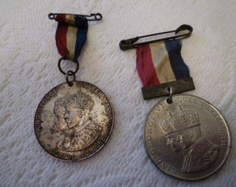 CORONATION and JUBILEE Medals. King George V and Queen Mary Jubilee 1935. King George VI and Queen Elizabeth Coronation 1937