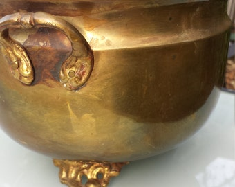 Vintage brass footed bowl