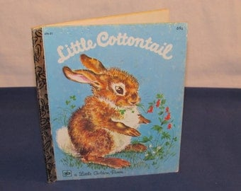 Little Golden Book LITTLE COTTONTAIL 1980 Original Printing in 1960