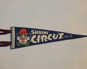 Vintage SHRINE CIRCUS PENNANT Souvenir Khartum