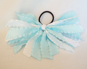 Blue and White Ruffled Streamer