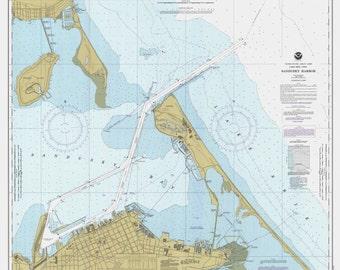 Lake Erie - 1985 - Sandusky Harbor, Ohio - Nautical Map Reprint  - Great Lakes #3 - 365