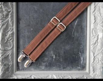 Adult Mens Suspenders brown