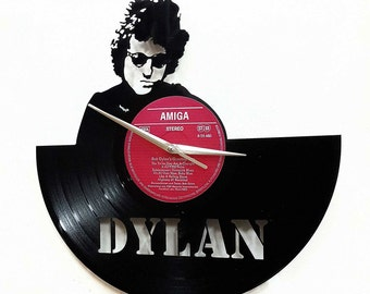 Bob Dylan Wall Art -Vinyl LP Record Clock or Framed Vinyl-Great Rock'n'Roll Gift - Vinyl Wall Decor - Bob Dylan clock -vinyl record clock