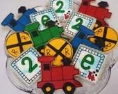 Train Birthday Cookies