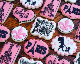 Paris -  Eiffel Tower Cookies