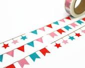 Bunting Washi Tape - Colourful Flags Masking Tape