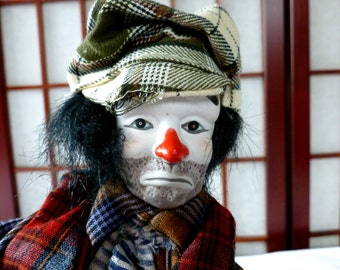 Vintage Rare Emmett Kelly Pose-able Clown Doll