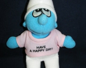 Smurf Doll,  Have a Happy Day, Stuffed Doll