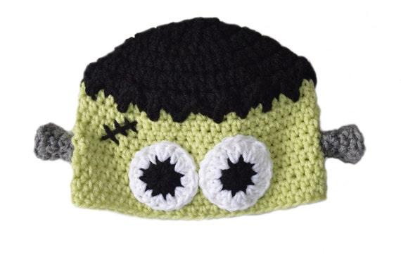 Frankenstein Hat, Toddler Dress Up, Halloween Costume, Kids Monster Hat, Knit Frankenstein, Crochet Halloween Hat, Adult Frankenstein Beanie
