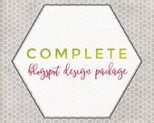 Custom Blog Design -- Complete Package, Blogger Only, Blogspot Template, Blogger Theme, Unique Branding, Blogspot Design, Responsive Design