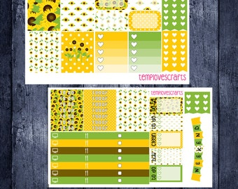 Sunny Sunflowers Kit for Erin Condren Life Planner