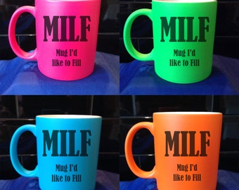 Personalised / Designed Neon Mug - Available in 4 Colours - Adult Humour - Style 1
