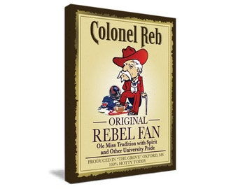 Ole Miss - Colonel Reb Canvas - 16x20 University of Mississippi
