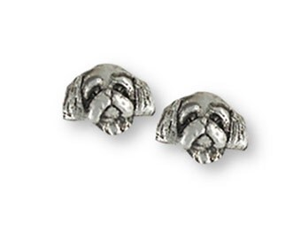 Lhasa Apso Charm Handmade Sterling Silver Dog Jewelry LSZ27H-C