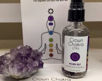 30% Off CROWN (7th) CHAKRA MIST - Higher Self - Essential Oil & Crystal Mist