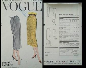 1958 vogue pencil skirt pattern #9269