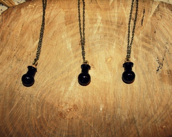 Black bottle necklace