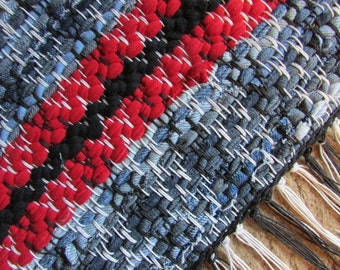 Blue Jeans Shorty  Hand Woven Rug