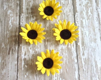 Mini Felt Sunflowers