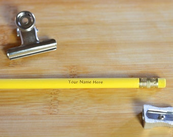 Personalised • Set of Hand Foiled Pencils
