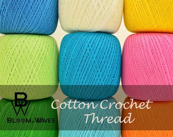 Cotton Crochet Thread/ Size 10 each ball ( 100 gr- 3,5 ounces) 550 meter-.617 yards.