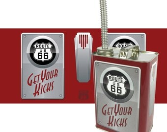 Route 66 Art Deco Style Gas can with Spout