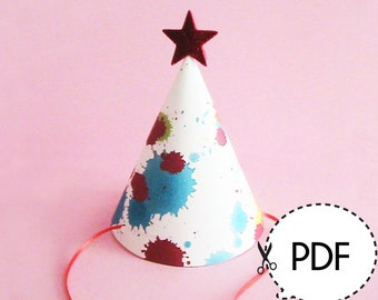 Party Hat Template ONLY – Printable PDF Download