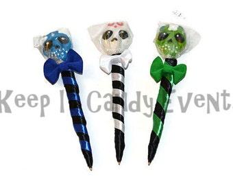 Skull Lollipen, Lollipop, Candy Pen, Halloween, Skull Pen, Candy, Party Favor, Lollipop, Favor, Lollipop Pen, Edible Pen, Sugar Skull pen