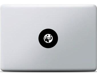 Panda Sticker MacBook, Laptop sticker, Vinyl decal, MacBook Pro, MacBook Air, Shining panda design similar to the wwf-logo, For animalfans